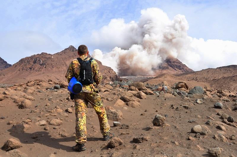 извержение вулкан шивелуч камчатка