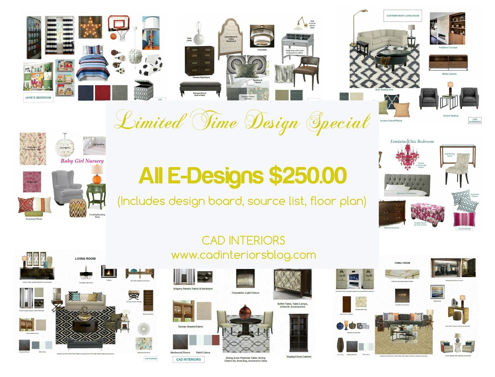 Special Pricing Promotion Interior Design Decorating Services