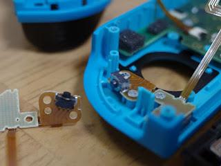 H HILABEE Lボタンフレックスケーブル ニンテンドースイッチJoy-con対応 交換部品 取付けしました。