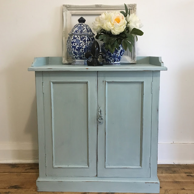 seafoam blue cupboard by lilyfield life