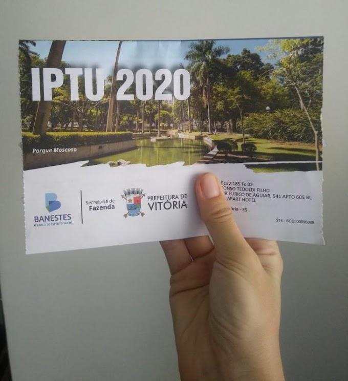 IPTU: Vitória, Vila Velha e Cariacica  foram prorrogadas as  datas de prazo para pagar