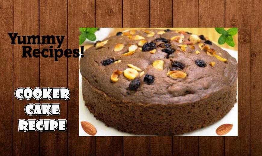 Eggless Cooker Chocolate Cake Recipe - How To Make Eggless Cooker Cake