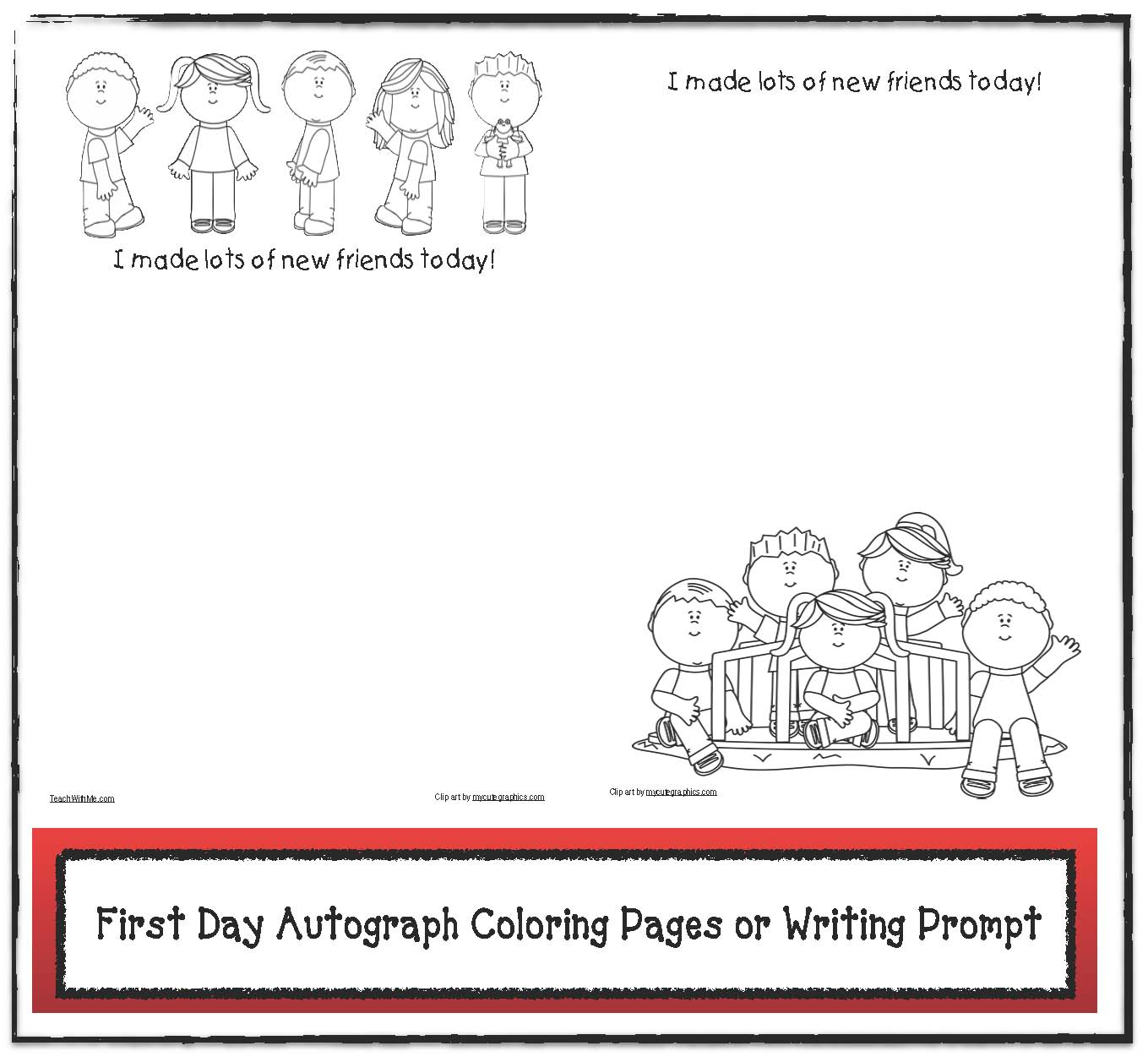 classroom freebies 1st day icebreaker writing prompt or autograph