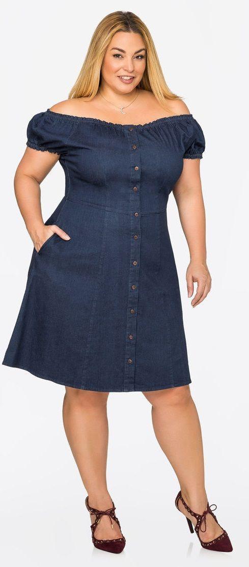0abb74ef8 Vestidos de jeans para gorditas