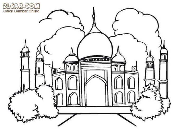 Masjid Untuk Mewarnai Gambar Islami