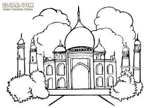 Gambar Sketsa Mewarnai Masjid Terbaru 201706
