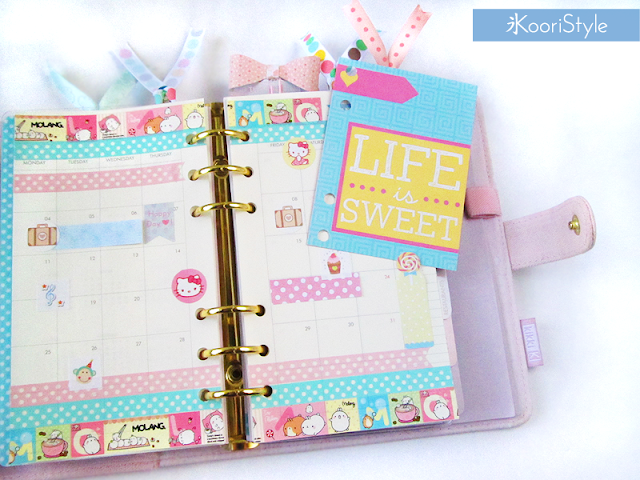 Handmade, Crafts, Kawaii, Cute, Paper, Koori Style, KooriStyle, Koori, Style, Planner, Planning, Stationery, Deco, Decoration, Time Planner, Kikki K, Filofax, Washi, Deco, Tape, Monthly, Journal, Agenda, Stickers, Medium, Live Bright, Ring Planner, Bookmark, Plan With Me, Set Up, 2016, Divider, January, Video