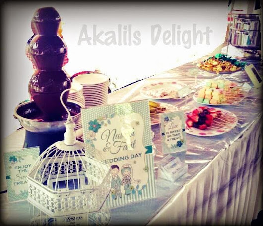 Chocolate Fountain Wedding Package (Nusrah& Farit) | Akalils Delight