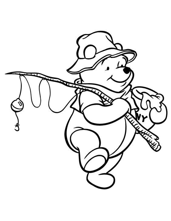Tranh cho bé tô màu gấu Pooh 26