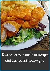 Kurczak w pomidorowym cieście naleśnikowym filet z kurczaka przepis czerwone ciasto naleśnikowe kucharz Pszczyna Paweł Skiba