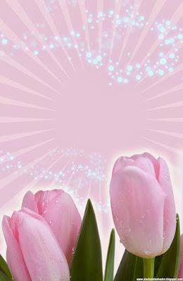 Invitación Elegante y Novedosa para Bodas Tulipanes Rosados Rosa