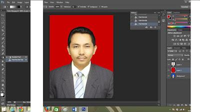 Cara mengganti warna background foto jenis foto KTP
