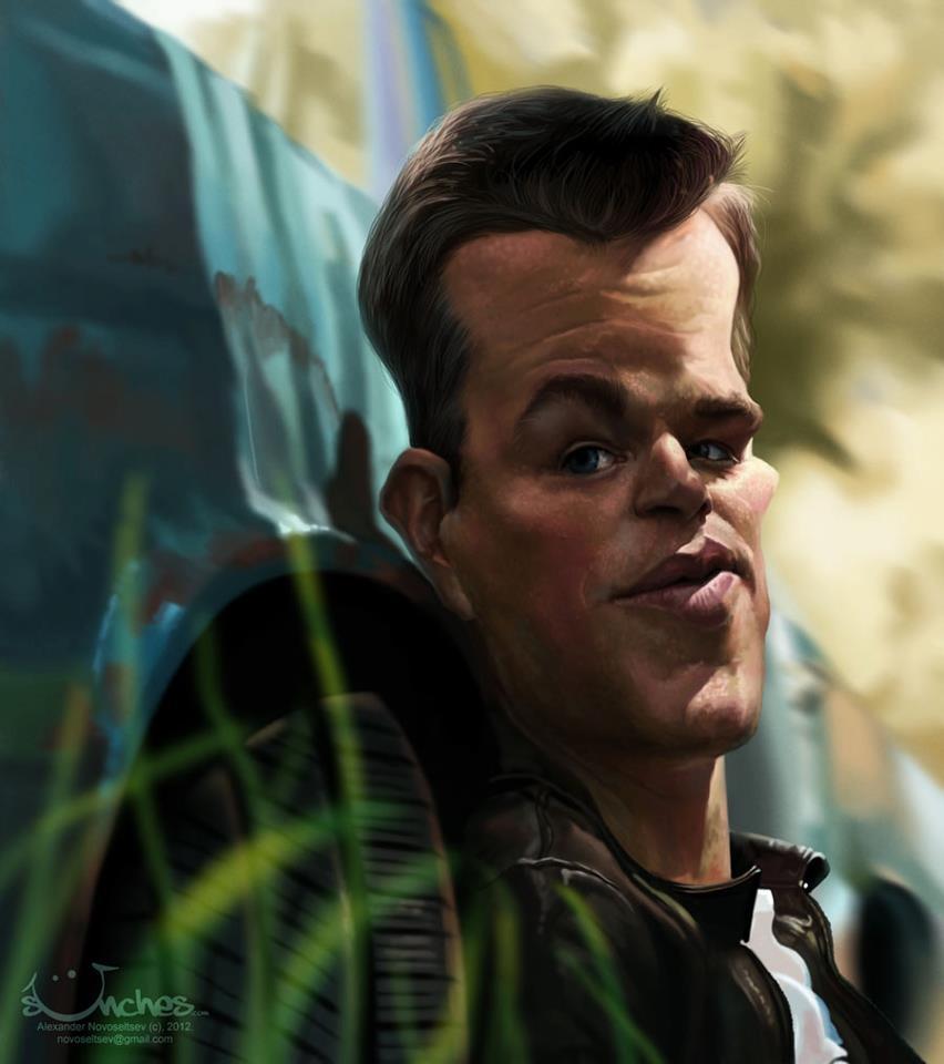 Matt Damon por Alexander Novoseltsev
