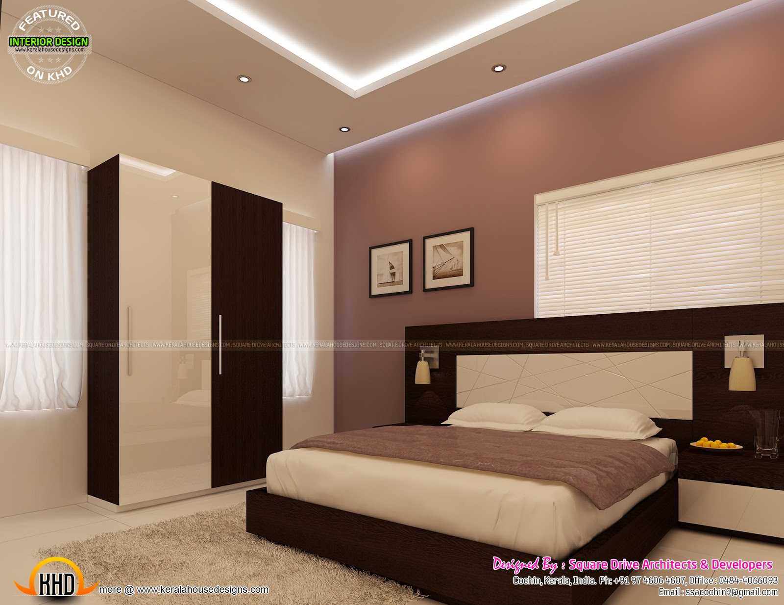 interior design small bedrooms bedroom interior decoration kerala home design and floor 15654