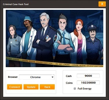 criminal case hack illimité cash coins energy
