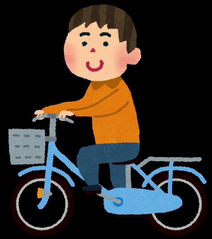 自転車に乗っている男性のイラスト かわいいフリー素材集 いらすとや