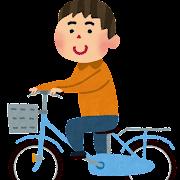 自転車に乗っている男性のイラスト