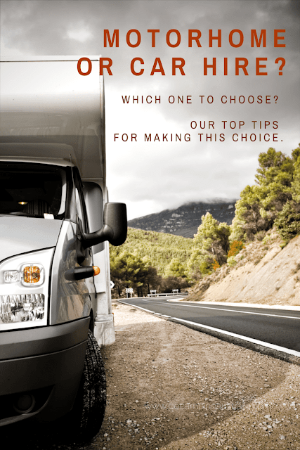 car or motorhome hire? Which one to choose.