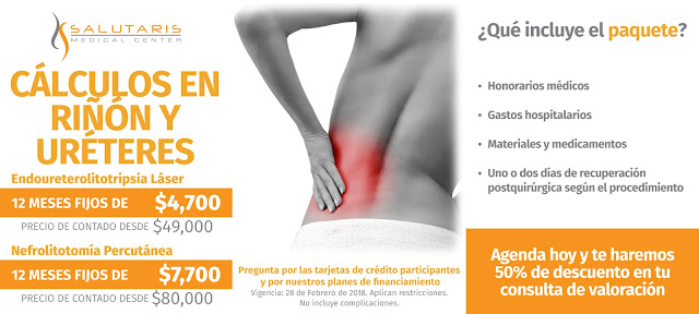 Precio Paquete Calculos Renales Ureteres Litotripsia Nefrolitotomia Percutanea Guadalajara Mexico