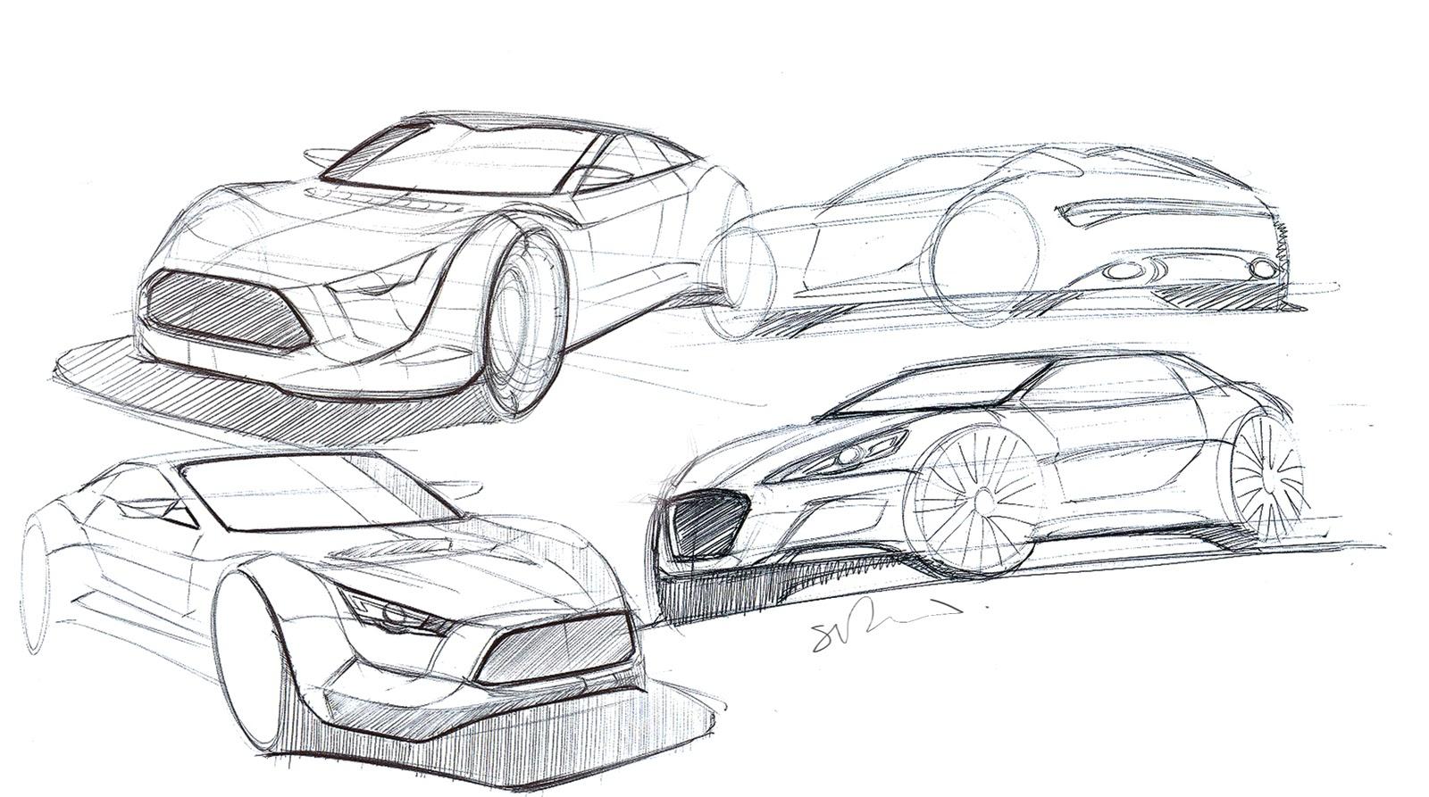 Simon Drew Automotive Designer Sports Car Sketches