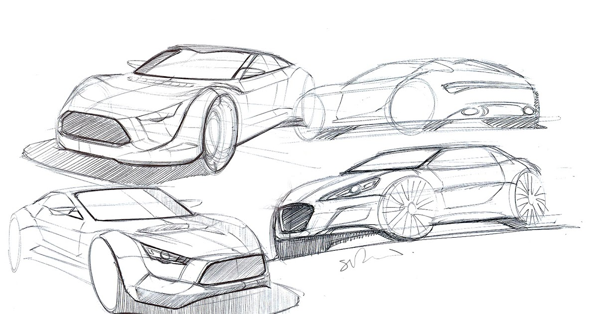 Simon Drew Automotive Designer Sports Car Sketches
