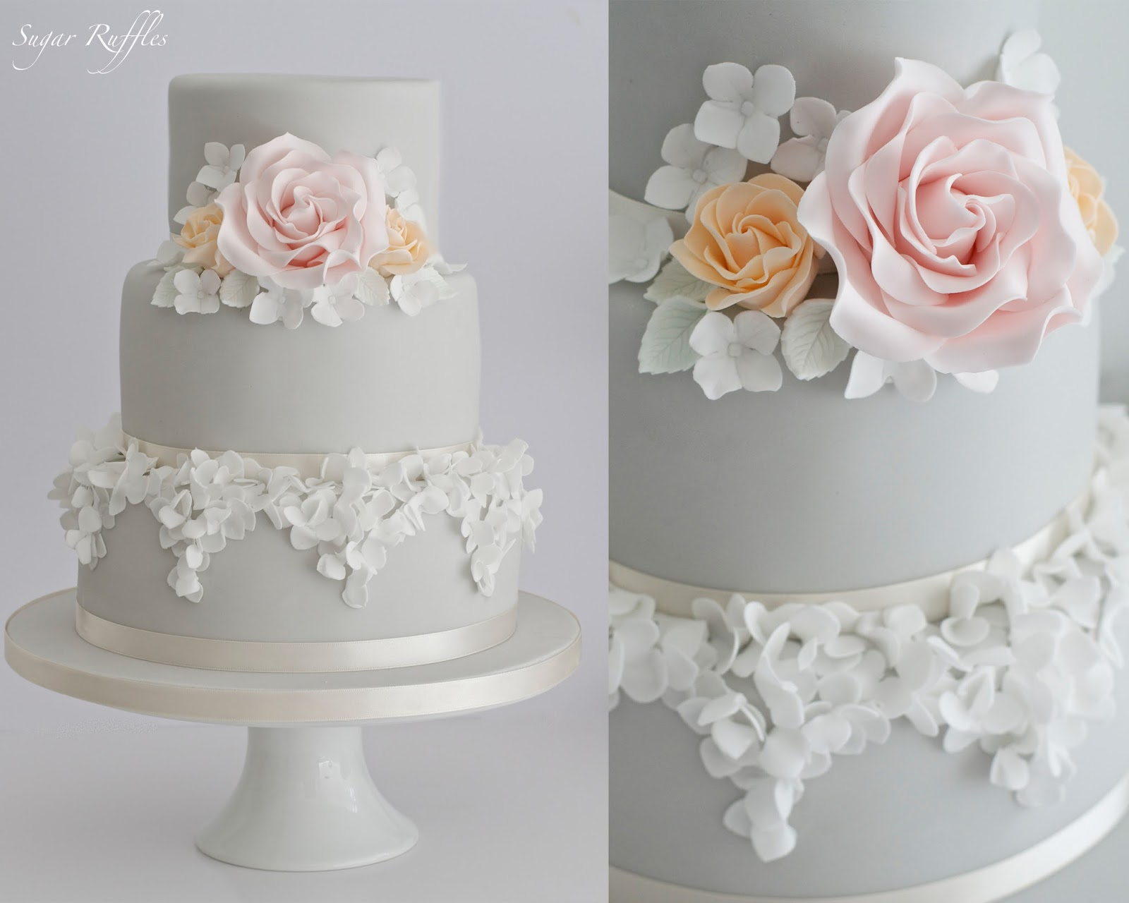 Grey & Silver Wedding Cakes