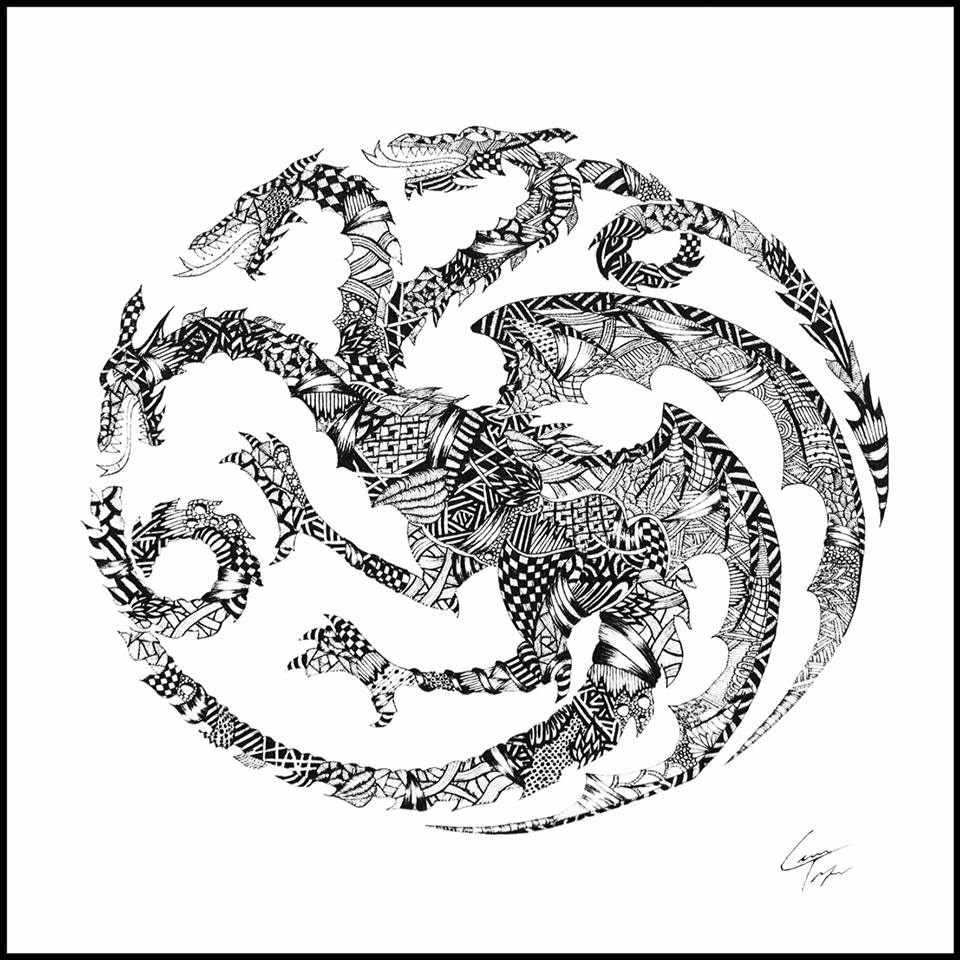 02-House-Targaryen-Sigil-Telfer-Game-of-Thrones-Zentangle-and-more-www-designstack-co
