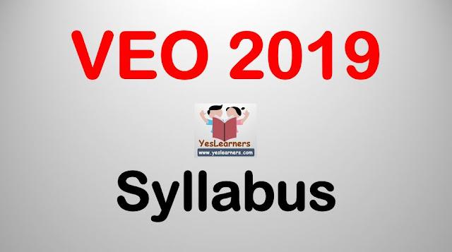 VEO 2019 - Syllabus