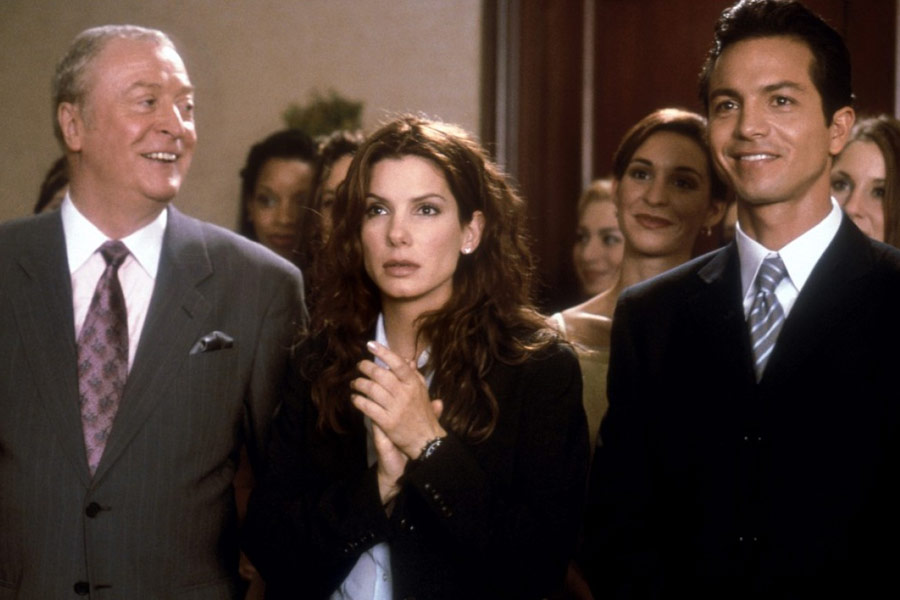 Sandra Bullock co-stars alongside Michael Caine and Benjamin Bratt in the 2000 comedy Miss Congeniality.