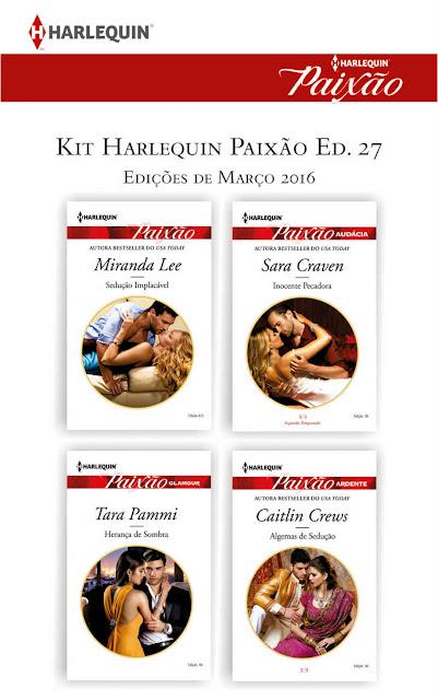 Kit Harlequin Paixão Mar