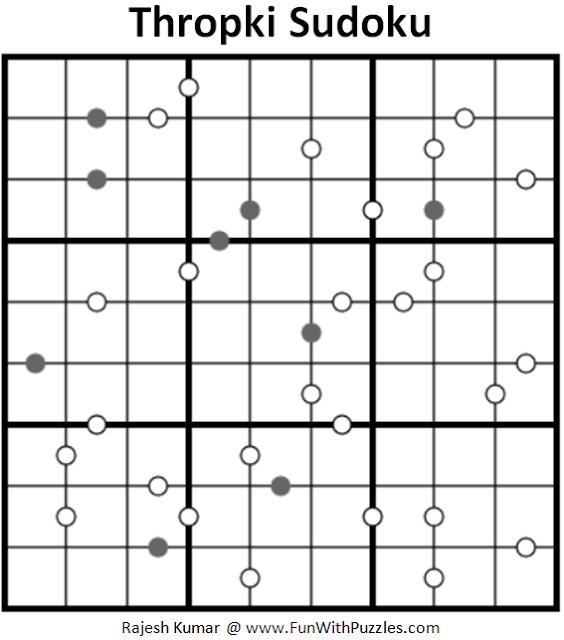 Thropki Sudoku (Fun With Sudoku #180)