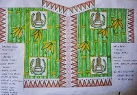 gambar seragam Batik -Sketsa seragam Batik sekolah Bekasi untuk Taman kanak-kanak karya Eddy Suwantoro