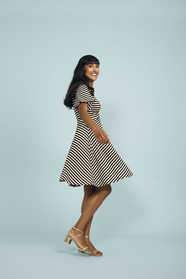Joni dress - sewing pattern from Stretch! book - Tilly and the Buttons