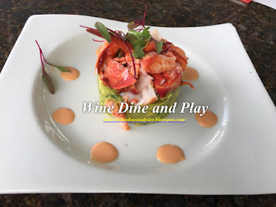 A lobster avocado stack with brandy dressing at Bon Appétit restaurant in Dunedin, Florida