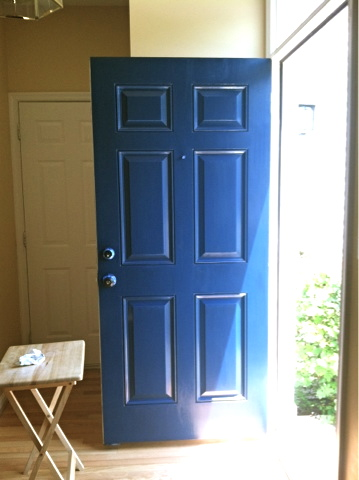 Iphone Thinks Our Door Should Be Bright Blue Instead Of Dark Teal But Either Color Is Much Better Than The Scuffed Up Black We Originally Had