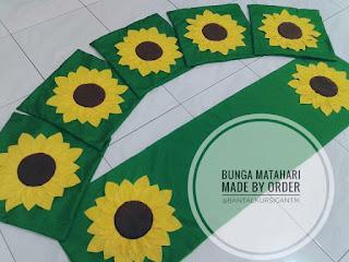 sarung bantal kursi bunga matahari
