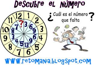 Descubre el número, el número que falta, Jugando con números, Piensa, Piensa rápido