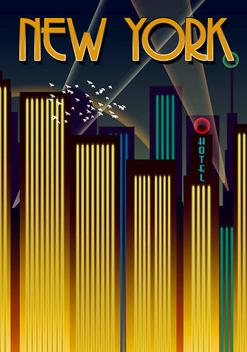 Maple's Scratching Post: Art Deco/Metropolis Posters