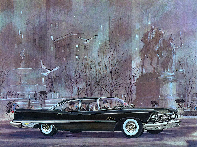 a 1950s LeBaron advertising illustration
