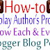 How To Display Author's Profile Below Each Blog Post