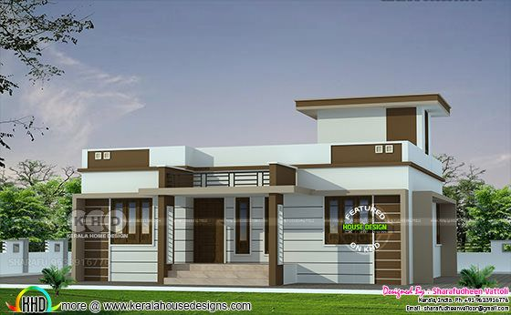 3 BHK in 1086 sq-ft budget home design
