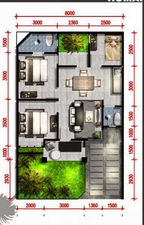Desain Rumah Luas Tanah 100m | Inspirasi Dekor Rumah