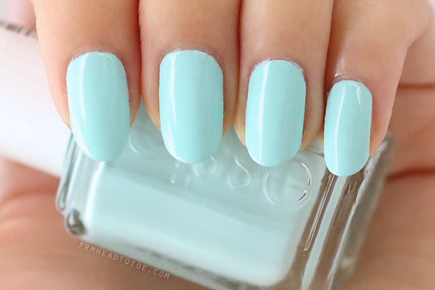 manicure monday essie mint candy apple from head to toe