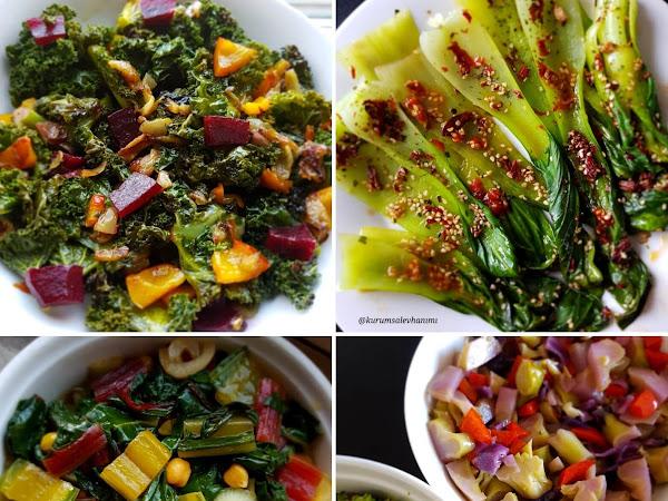 Kale, Çin Lahanası, Brokoli ve Pancar Sapı Yemekleri