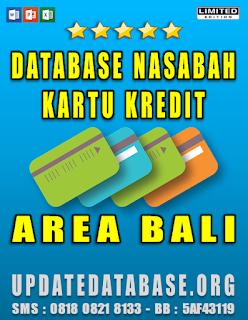 Jual Database Nasabah Kartu Kredit Bali