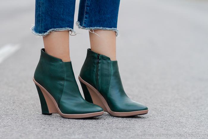 zapatos mujer 2017 invierno - Botines made in Italy con cuña
