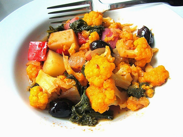 Greek Cauliflower Stifado W Kale Olives Fall Vegetable Stew