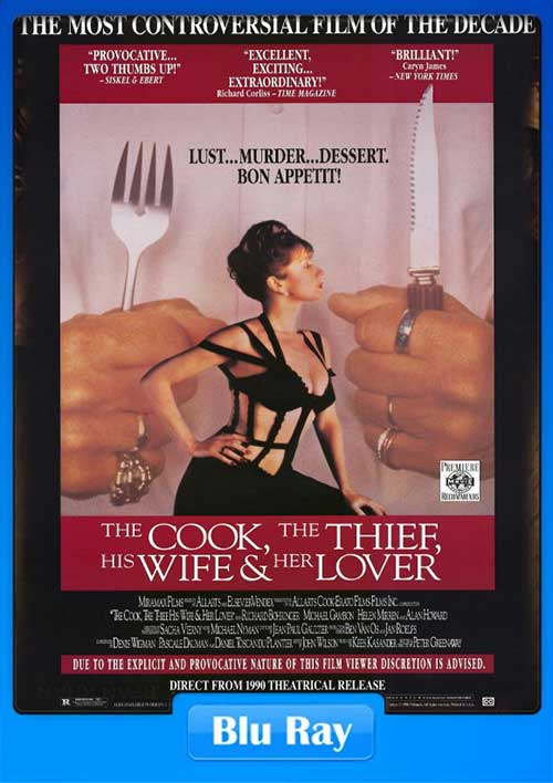The Cook the Thief His Wife and Her Lover 1989 480p BluRay 350MB x264 Poster