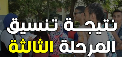 الأن نتيجة تنسيق المرحله الثالثه للثانويه العامه 2016 برقم الجلوس