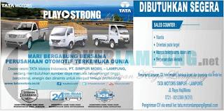 Kesempatan Berkarir di PT. Simpur Mobil (Tata Motors Simpur) Lampung Terbaru September 2016